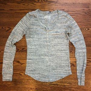 PINK grey pajama shirt, size medium